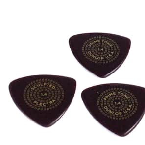 Dunlop Guitar Picks  3 Pack  Primetone Tri Triangle  Hand Sculpted  1.4mm