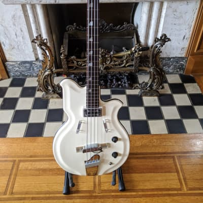 National Val Pro 85 Resoglas Map Bass Guitar 1964 Original Case for sale