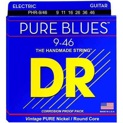DR Pure Blues PHR-9/46 Electric Guitar Lite - Heavy 9-46