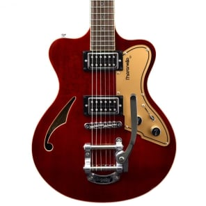 Italia Maranello '61, Seethru Burgundy - w/ Italia Deluxe Gig Bag, New, Free Shipping for sale