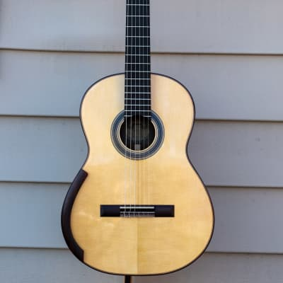 Cervantes Master M Model Signature 2010's Natural Sitka Spruce Indian Rosewood Classical Guitar for sale