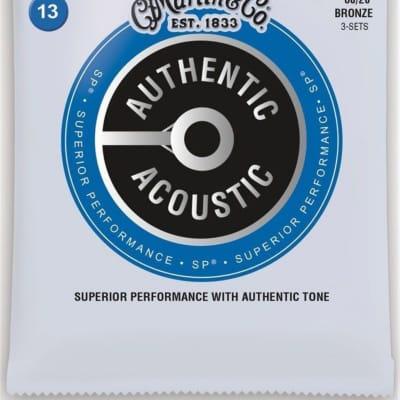 Martin Authentic MA150PK3 Medium Acoustic Guitar Strings - 3 Pack