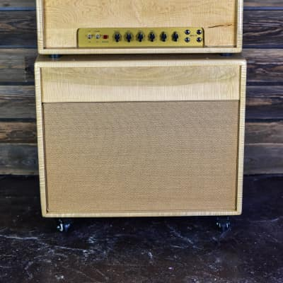 Germino Club 40 Head and 2x12 Cab. Figured Maple Custom Cabinets. Celestion Cream Backs for sale