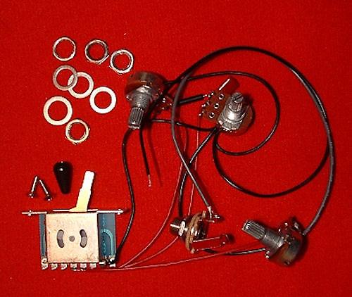 guitar parts stratocaster strat wiring harness kit 1 vol 2 reverb. Black Bedroom Furniture Sets. Home Design Ideas