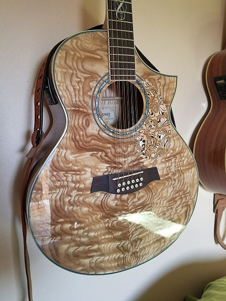ibanez 12 string acoustic electric acoustic exotic wood reverb. Black Bedroom Furniture Sets. Home Design Ideas
