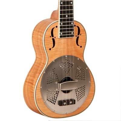 Gold Tone Curly Maple Resonator Tenor-Scale Ukulele ResoMaple/Tenor
