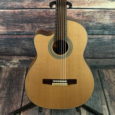 Crafter Left Handed CE15/N Acoustic Electric Classical Cutaway Guitar- B -Stock for sale