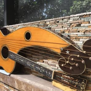 Rare, Holy Grail 1913 Larson Dyer Style 8 Harp Guitar for sale