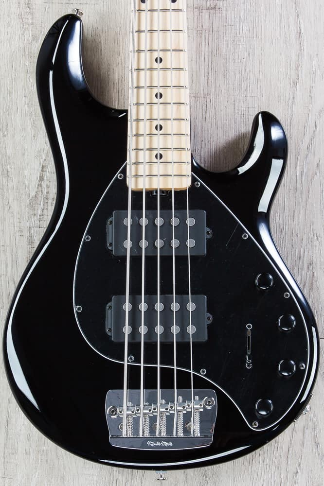 ernie ball music man stingray 5 hh bass black maple board reverb. Black Bedroom Furniture Sets. Home Design Ideas