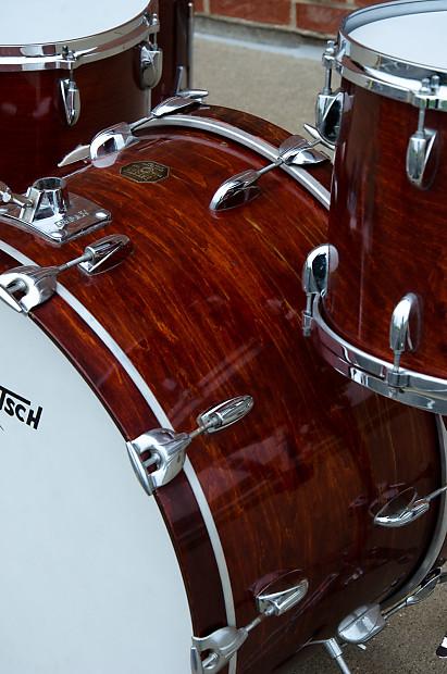 Vintage 70 S Gretsch Drum Kit Walnut Finish 24 Quot Reverb