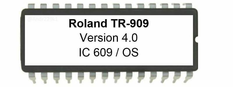 Roland TR-909 OS 4 0 EPROM Firmware Upgrade [Midi Timing Fix] TR909  Drummachine