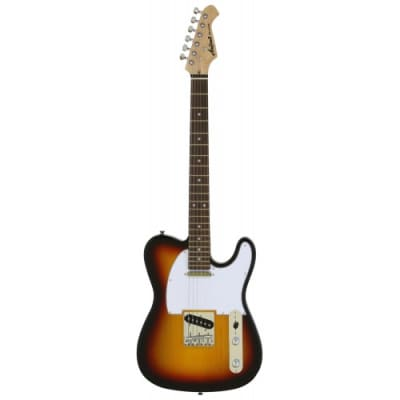 Aria Pro ll Classic T-Style Solid Body 3 Tone Sunburst Free Shipping for sale