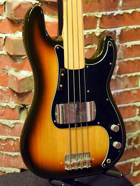 fender fretless precision bass 1978 house of guitars reverb