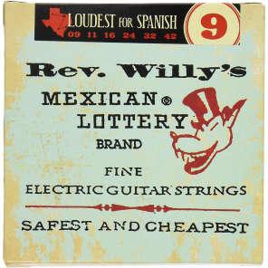 Dunlop RWN0942 Icon Series Reverend Willy's Medium Light .009-.042 Electric Guitar Strings (6 Set)