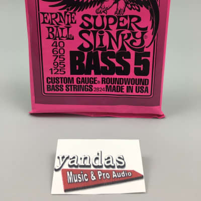 Ernie Ball Slinky Series Bass Guitar Strings - 5 String Super Slinky