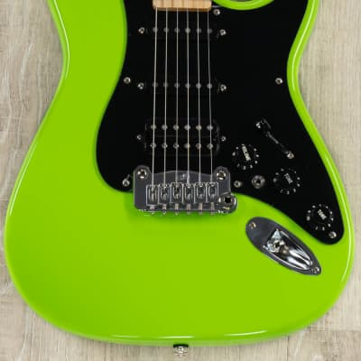 G&L USA Fullerton Deluxe Legacy HB HSS Guitar, Sublime Green, Maple Fretboard, Deluxe Gig Bag for sale
