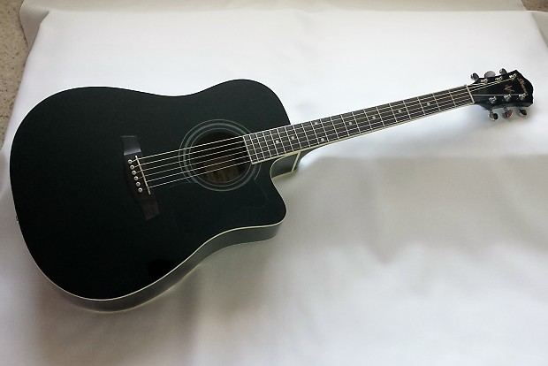 Ibanez V70ce Acoustic Electric Guitar In Black Reverb
