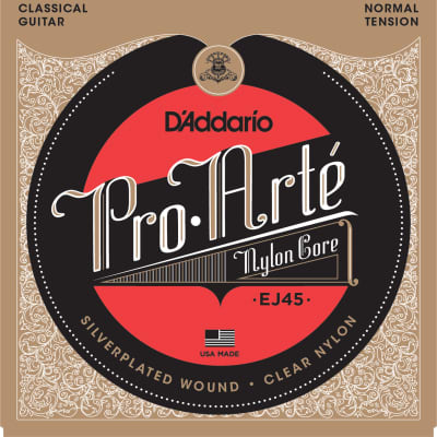 D'addario String Pro Arte Clsscl Silver Clear Normal