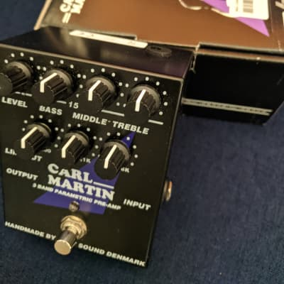 Carl Martin 3 Band Parametric Pre-Amp, Newer version with 9v center-negative power input for sale