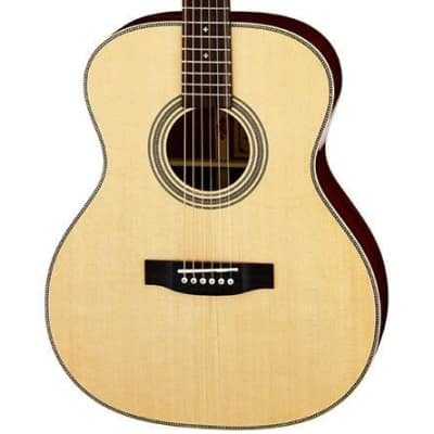 Aria 500 Series Orchestral Body Acoustic Guitar in Natural with Case for sale