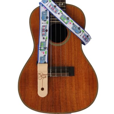 """Sherrin's Threads 1"""" Ukulele Strap Campers Limited Edition"""
