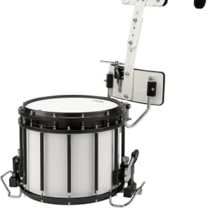"""Sound Percussion Labs MSDHT1311XWH 13x11"""" High-Tension Marching Snare Drum with Carrier"""