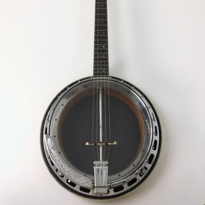 Caraya 5-string Resonator Banjo,Clear Top,Flame Maple w/Tone Ring+Hard Case for sale