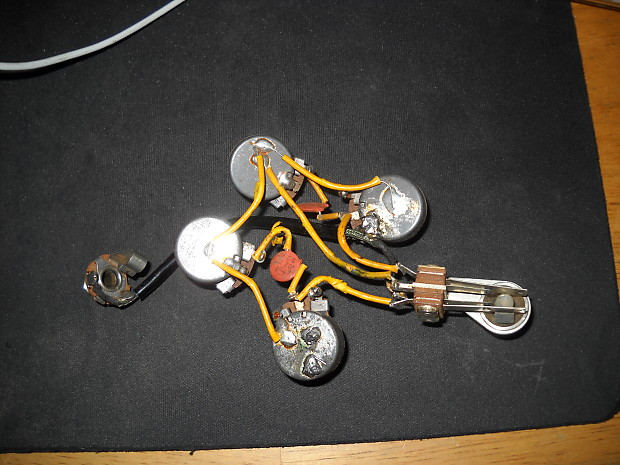 Gibson SG 1962 Wiring Harness Vintage Gear   Reverb on les paul wiring harness, gibson sg pickguard, gibson sg tailpiece, fender stratocaster wiring harness,