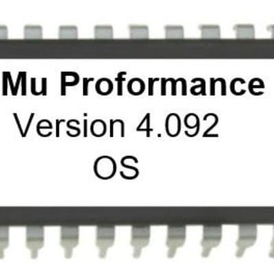 E-MU Proformance - Version 4.092 OS EPROM ROM upgrade kit Emu Firmware