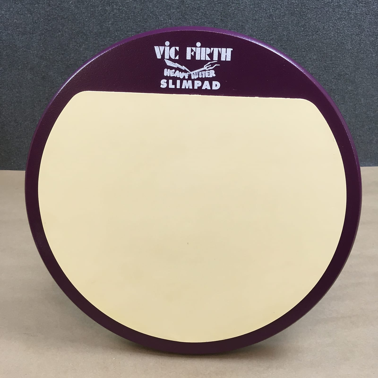 "Vic Firth Slim Pad Heavy Hitter 12"" Practice Pad - Slimpad Marching Drum Corp 1/8"" Gum Rubber HHPSL"
