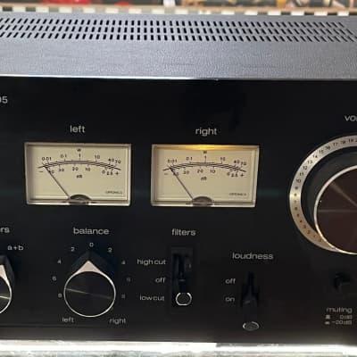 Optonica SM-3205 Integrated Stereo Ampilfier  Black with Wood Veneer Side Panels