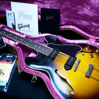 "Gibson Custom Shop True 1959 Historic Reissue Memphis ES-330 ""VOS"" Vintage Burst 2018"