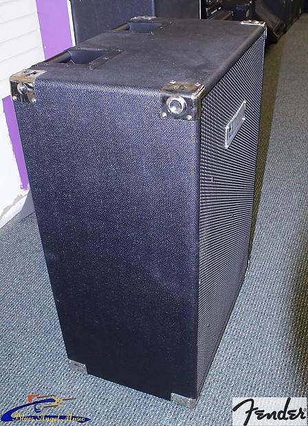 fender 215 pro 2x15 bass speaker cabinet tested and works reverb. Black Bedroom Furniture Sets. Home Design Ideas