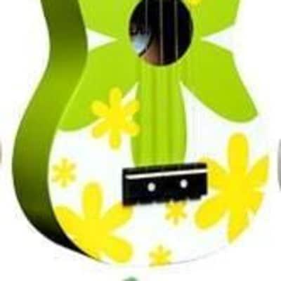 Amahi Penguin Tropical Series Soprano Ukulele - Green Flower