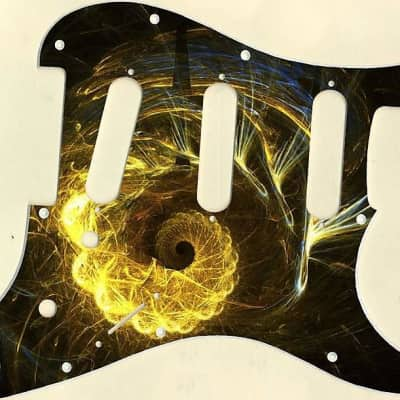 Graphical pickguard Fender Stratcaster Strat SSS 11 Hole Abstract 6