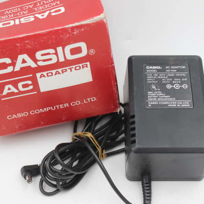 Casio AD-K64 Vintage MIJ NOS Power Supply 6v Center Negative