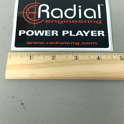Radial Engineering Power Player Bumper Sticker Pedals Direct Boxes