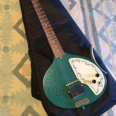 Jerry Jones Baby Sitar mid-2000's Turquoise for sale