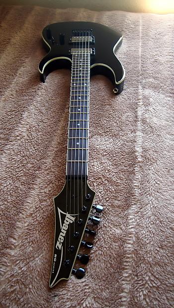 ibanez rg2ex1 2006 black electric guitar string thru metal reverb. Black Bedroom Furniture Sets. Home Design Ideas