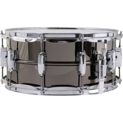 Ludwig Black Beauty Supra-Phonic Brass Snare Drum, 8x14 Inch
