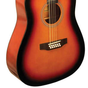 Indiana S-SCOUT-12-TB Scout 12-String  Acoustic Guitar Limited Edition w/Gig Bag - Tobacco Burst for sale