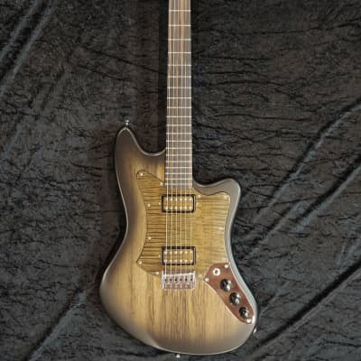 JPG (Josh Parkin Guitars) Big Kat - Offset Style Humbucker Guitar 2019 Black Burst over Black Limba for sale