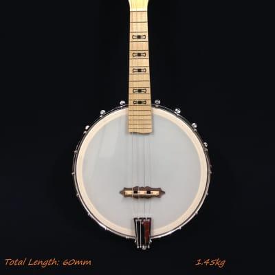 Caraya Concert Size All Maple Open-Back Banjo Ukulele,Banjolele,4-String |BJ-24| for sale