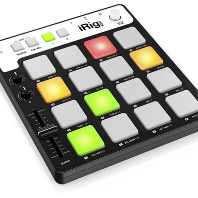 IK Multimedia iRig Pads 16 Pad MIDI Groove Controller for iOS Devices, Mac, PC