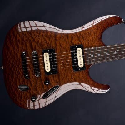 Ibanez (Feline rebuilt & customised) SF470  Mahogany /quilted sapele for sale