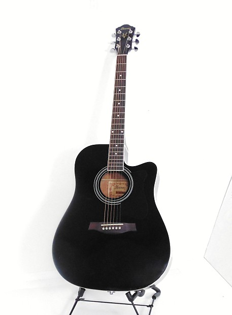 Ibanez V70ce Bk Acoustic Electric Guitar Black Reverb