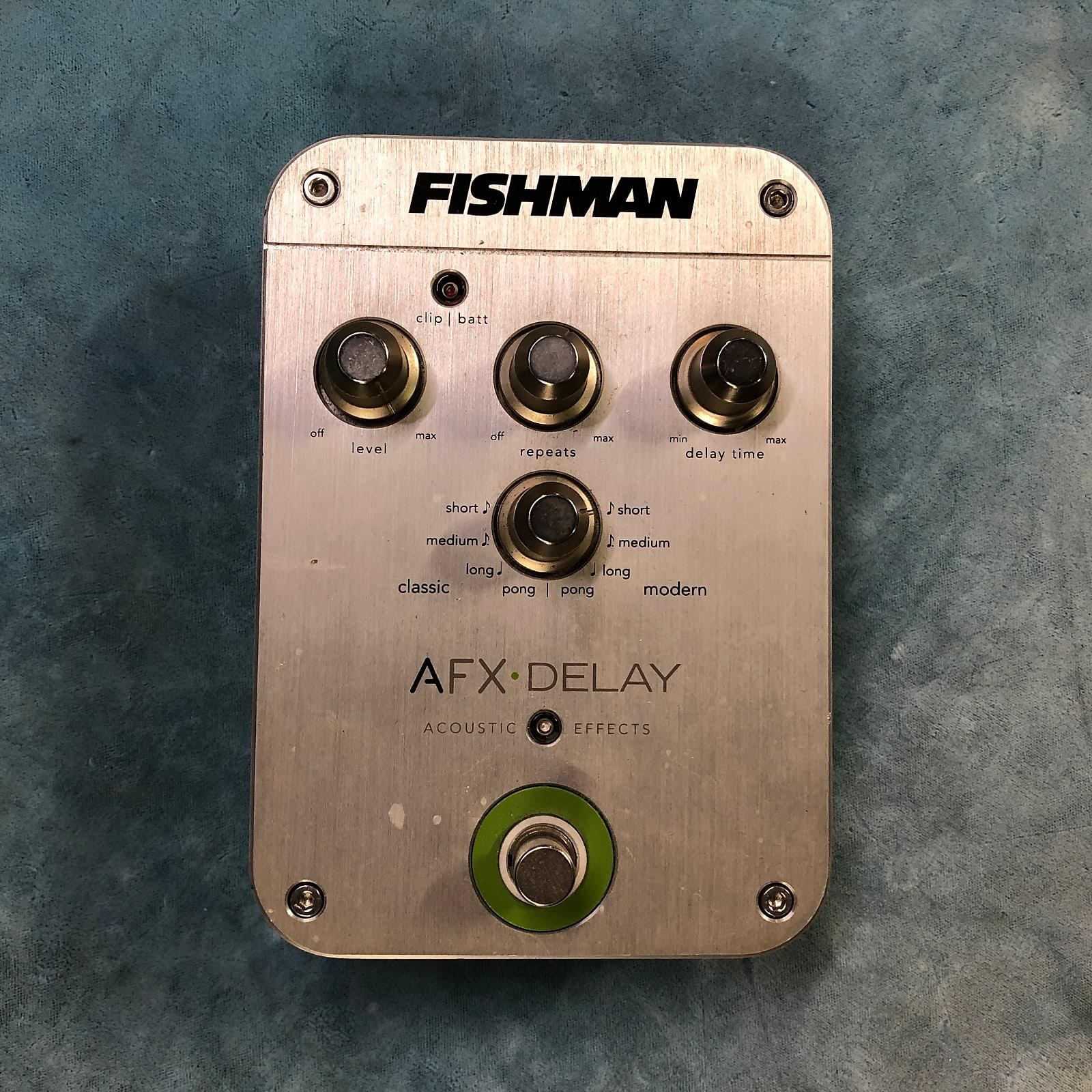 Fishman AFX Delay Acoustic Guitar Effects Pedal w/ Box