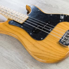 G&L LB100-VNAT-MP Swamp Ash 4-String Bass with Maple Fretboard Vintage Natural