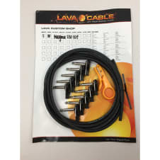 Lava Magma 230 Guitar Cable Kit, Right Angle Plugs,10 ft