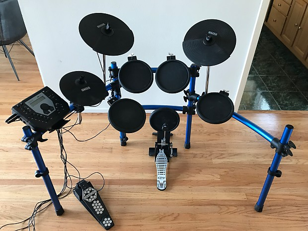 Simmons Sd1000 Electronic Drum Kit With Bass Drum Pedal Reverb